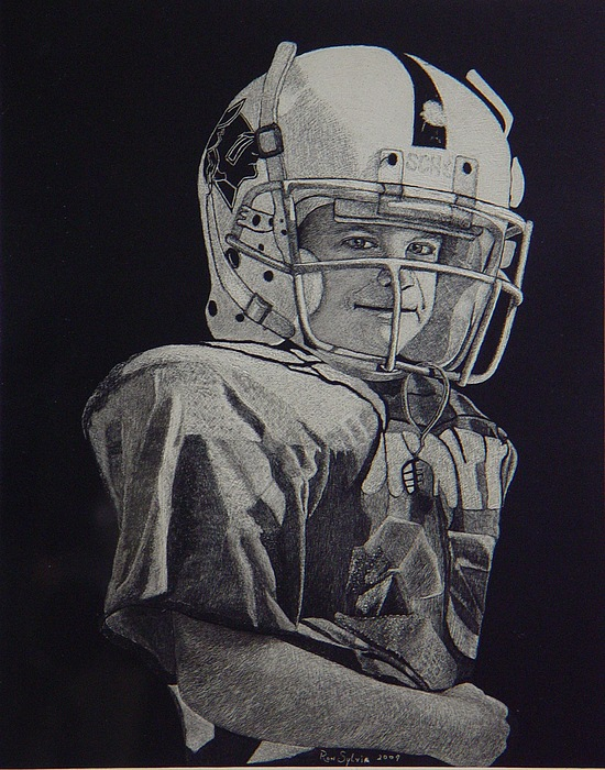 Football Painting - coach am I up by Ron Sylvia