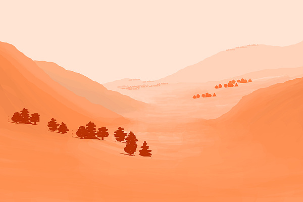 Landscape Painting - Coalinga by Charles Harker