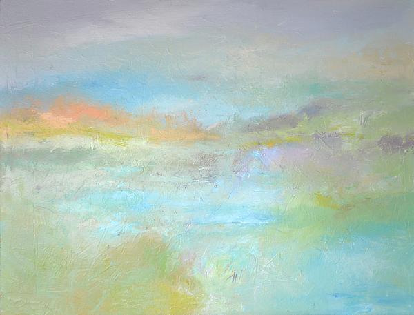 Seascape Painting - Coastal Mist by Filomena Booth