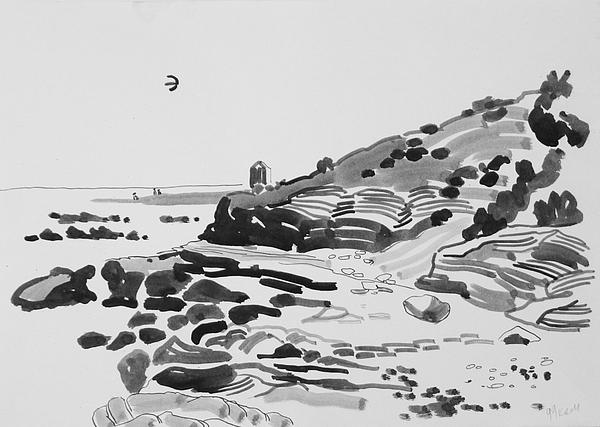 Coast Drawing - Coastline Of The Spain by Vitali Komarov