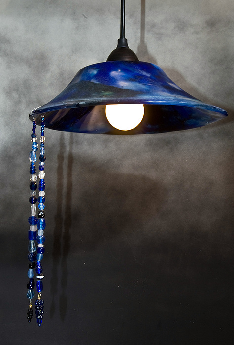 Cobalt Glass Art - Cobalt Lamp   Sold by Abbe Gore