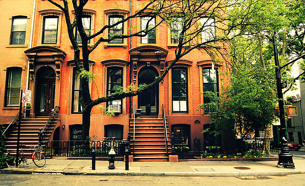 Beautiful Photograph - Cobble Hill Brownstones - Brooklyn - New York City by Vivienne Gucwa