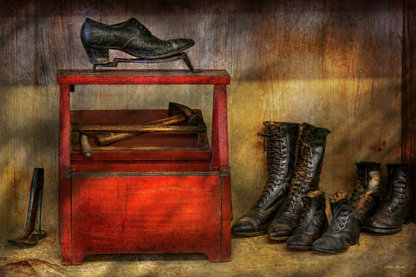 Cobbler Photograph - Cobbler - Life Of The Cobbler by Mike Savad