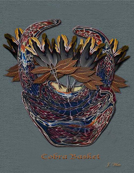 Flower Basket Digital Art - Cobra Basket by Jerry White