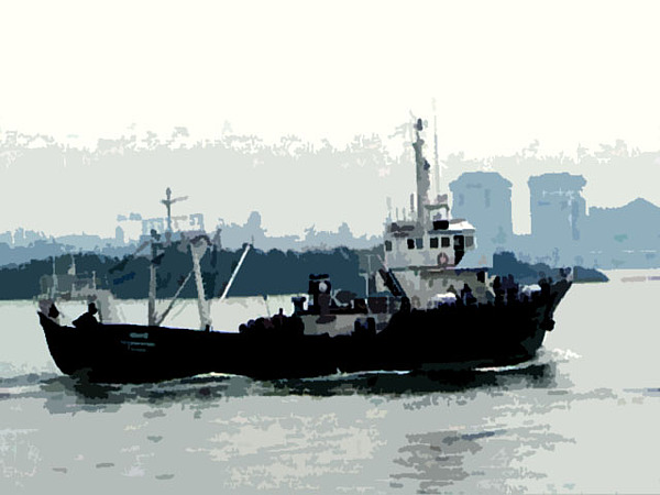 Boat Photograph - Cochin Harbour by Padamvir Singh