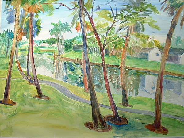 Landscape Painting - Coconut Creek by Charlotte Maloney