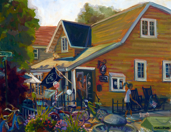 Coffee And Cream Painting - Coffee And Cream Cottage by Nora Sallows