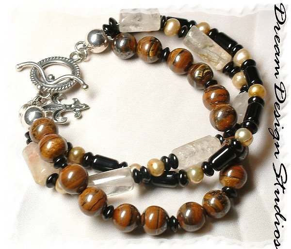 Bracelet Jewelry - Coffee And Cream  by Donna  Phitides