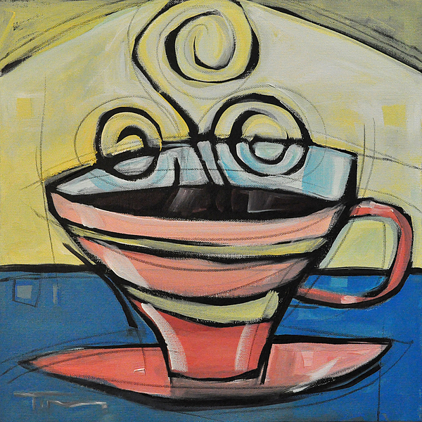 Coffee Cup Four Painting By Tim Nyberg