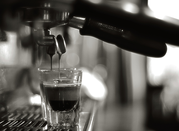 Close-up Photograph - Coffee In Glass by JRJ-Photo