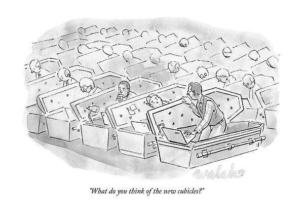 Coffin Cubicles  Drawing by Liam Walsh
