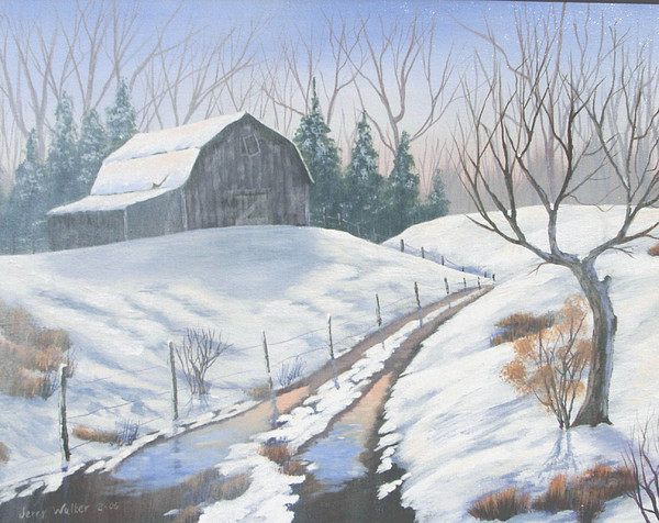 Landscape Painting - Cold Country by Jerry Walker