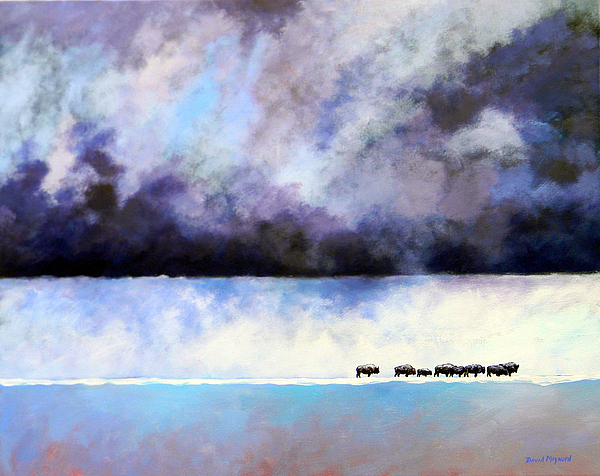 Landscape Painting - Cold Front by David  Maynard