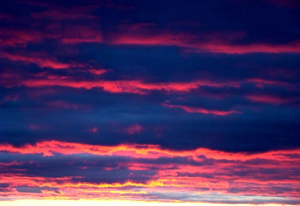 Sky Photograph - Cold Front Sunset One by Ana Villaronga