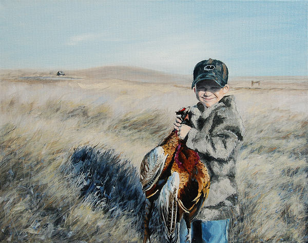 Commission Painting - Coles Pheasant by Conny Riley