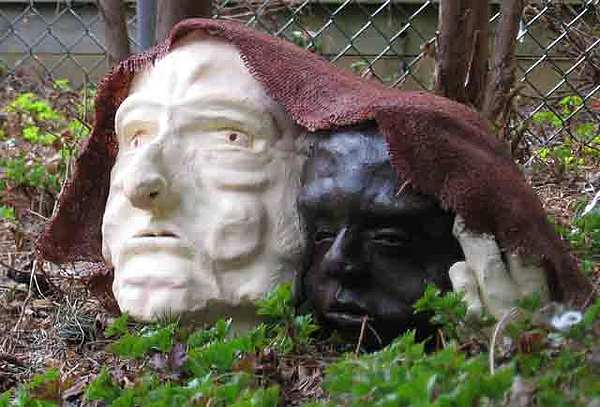 Fired Clay Sculpture - Collateral Damages by Andre Ferron