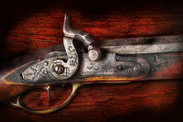 Hdr Photograph - Collector - Gun - Rifle Works  by Mike Savad