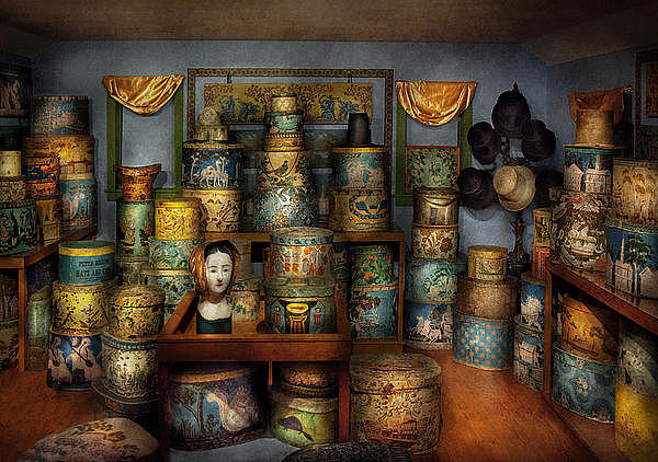 Hdr Photograph - Collector - Hats - The Hat Room by Mike Savad