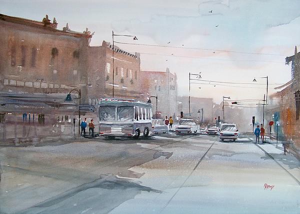 Watercolor Painting - College Avenue - Appleton by Ryan Radke
