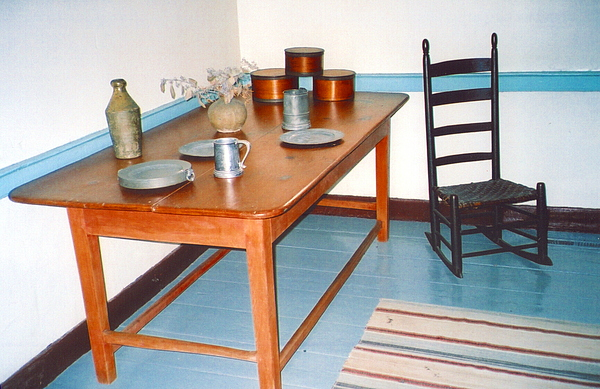 Colonial Table Photograph - Colonial Table by Andrea Simon