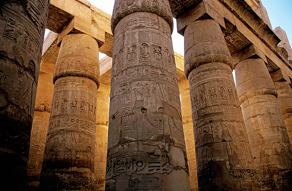 Africa Photograph - Colonnade In The Karnak Temple Complex At Luxor by Sami Sarkis