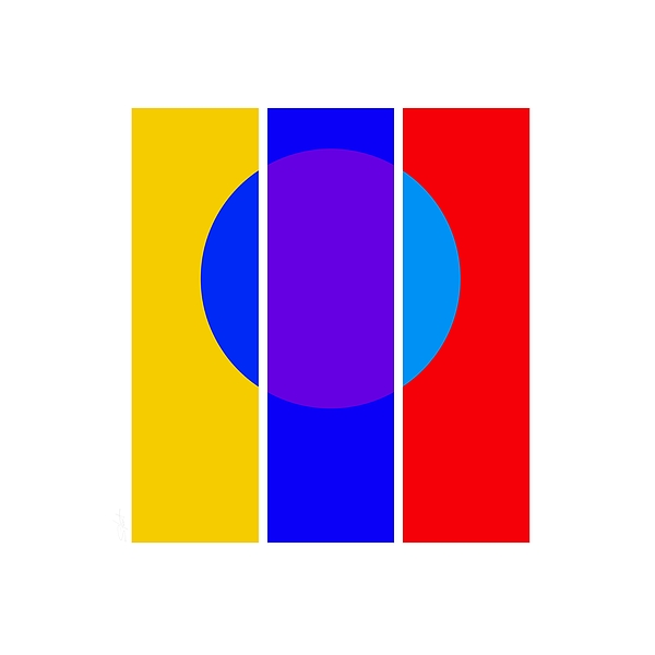 Primary Colors Painting - Color And Form by Charles Stuart