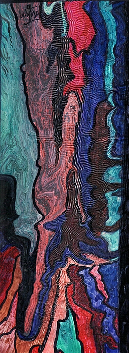 Abstract Mixed Media - Color Blend by Wytse