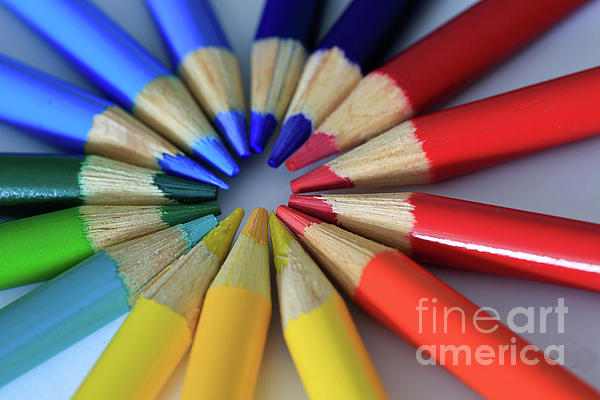 Pencils Photograph - Color Coded by Tracy Hall