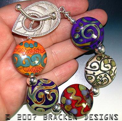 Bracelet Jewelry - Color Rounds by Laura Bracken