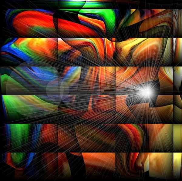Colorful Digital Art - Colorful Abstract Sunburst by Teo Alfonso