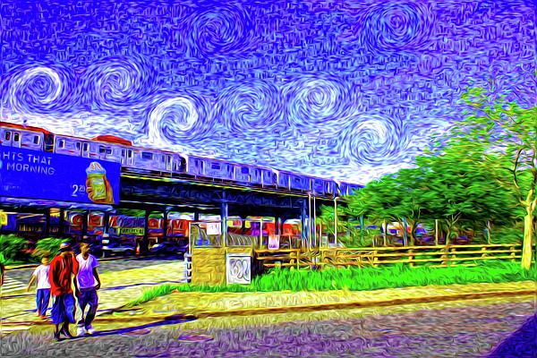 Van Gogh Photograph - Colorful City by Dax Ian