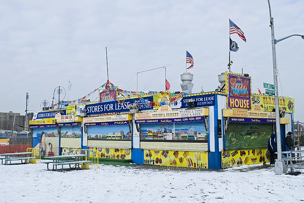 Coney Island Photograph - Colorful Coney Island Stand by Andrew Kazmierski