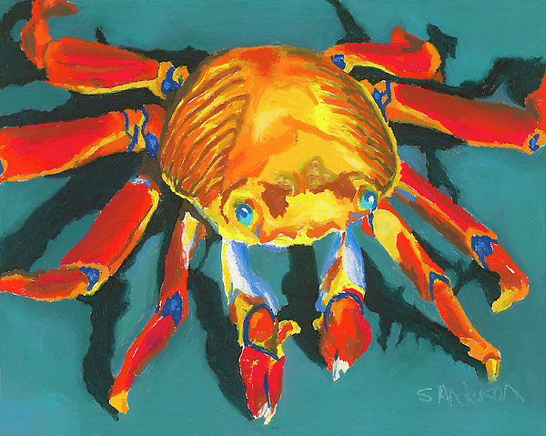 Crab Painting - Colorful Crab II by Stephen Anderson
