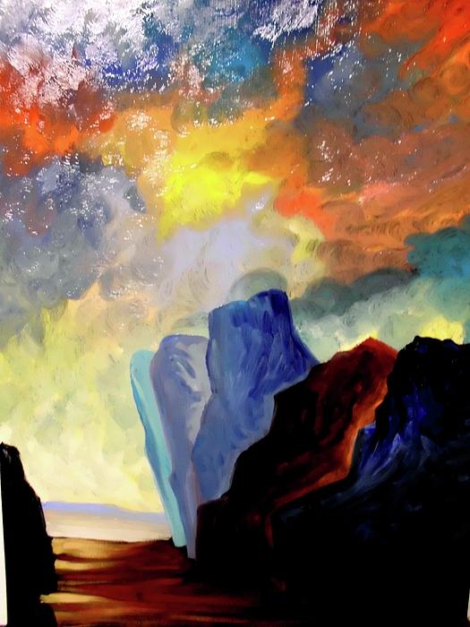 Santana Mixed Media - Colorful Scape by Joe Santana