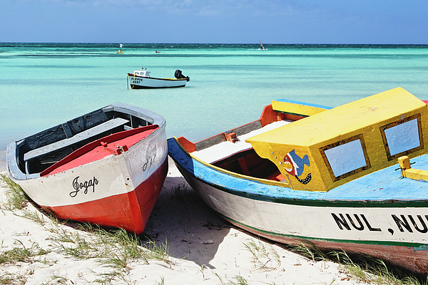 Antilles Photograph - Colorful Traditional Fishing Boats by George Oze