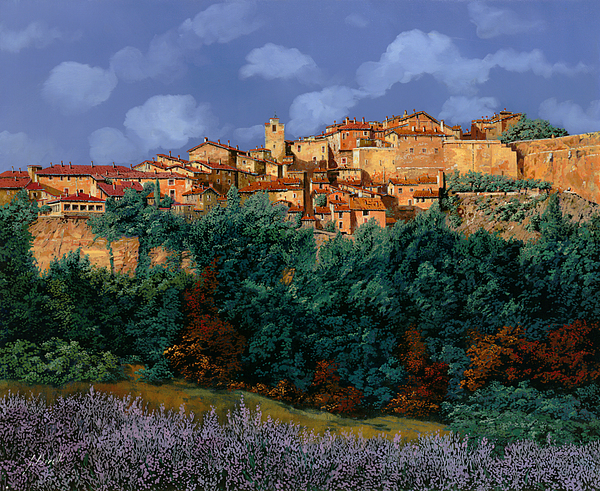 Provence Painting - colori di Provenza by Guido Borelli