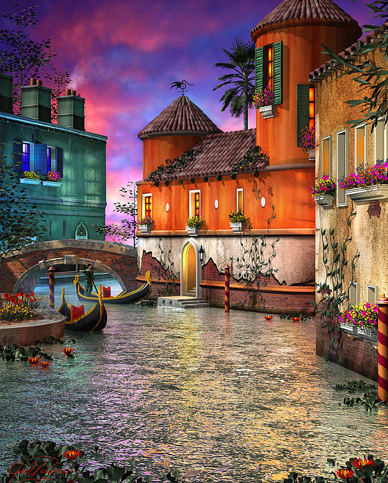 Venice Digital Art - Colors Of Venice by Joel Payne
