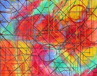 Abstract Painting - Colorweb by DE Fryer