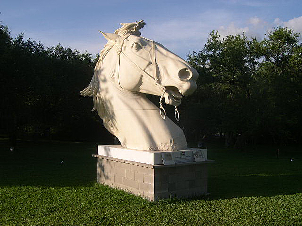 Horse Sculpture - Colossal Horse by J Houser