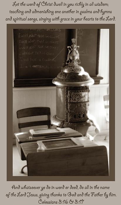 Bible Verse Photograph - Colossians 3 by Kim Hawkins Eastern Sierra Gallery
