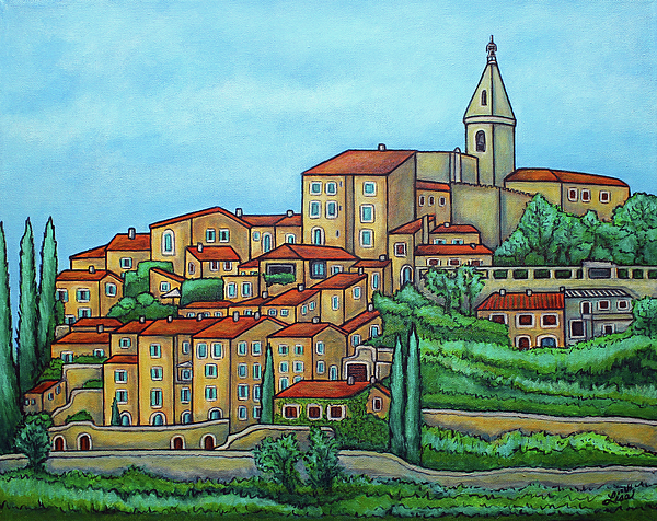 Provence Painting - Colours Of Crillon-le-brave, Provence by Lisa Lorenz