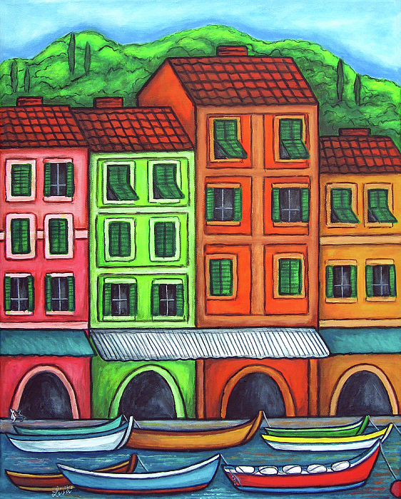 Italy Painting - Colours Of Liguria by Lisa  Lorenz