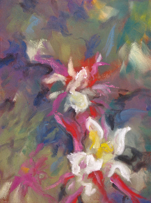 Abstract Pastel - Columbine Flair by Carole Haslock
