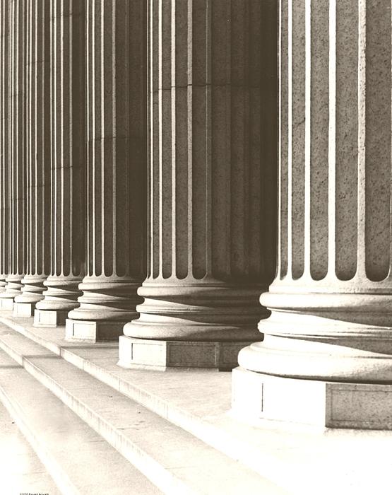 Columns Photograph - Columns by Daniel Napoli