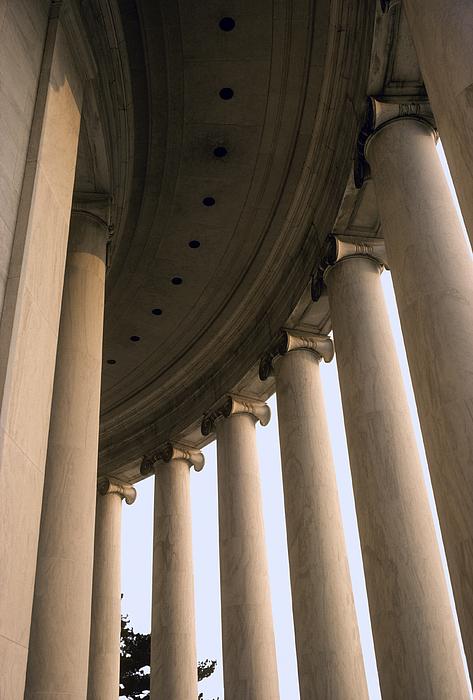Sculpture Photograph - Columns Surround The Jefferson Statue by Rex A. Stucky