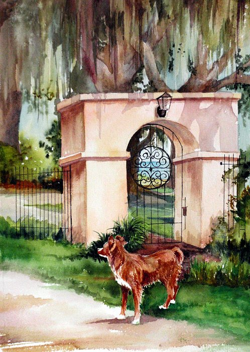 Gates Painting - Come Out And Play by Michael  Pearson