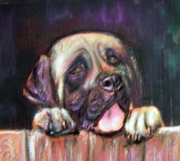 Pet Portrait Painting - Come Play With Me by Darla Joy  Johnson