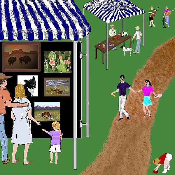 Fair Digital Art - Come To The Fair by Carole Boyd