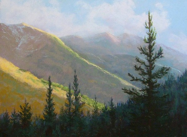 Mountains Pastel - Comes The Dawn by Debra Mickelson
