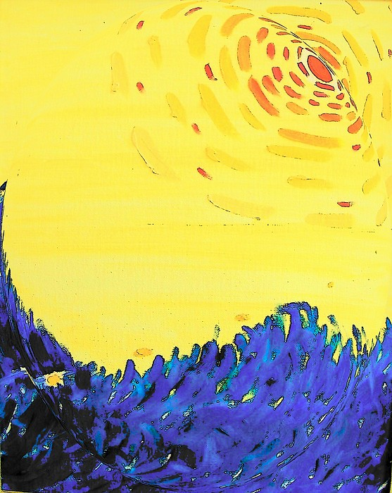 Abstract Painting - Comet by Lenore Senior